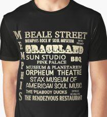 Memphis Tennessee Famous Landmarks Graphic T-Shirt