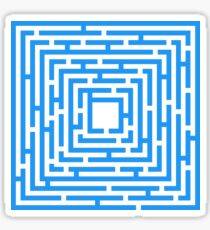 Abstract vector background with a maze. Sticker