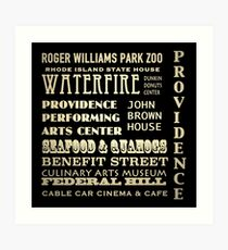 Providence Rhode Island Famous Landmarks Art Print