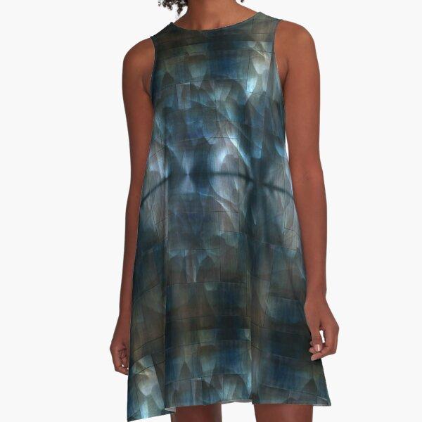 Underwater metal A-Line Dress