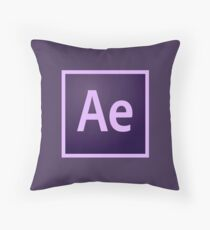 After Effects Icon Throw Pillow