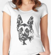 German Shepherd Women's Fitted Scoop T-Shirt
