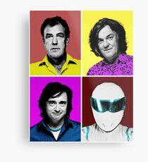 Top Gear Inspired Pop Art, All Personalities in One Metal Print