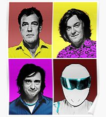 Top Gear Inspired Pop Art, All Personalities in One Poster