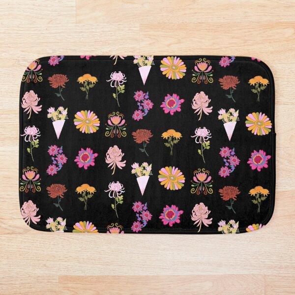 Bunch of Mums Chrysanthemums Bouquet Pack Bath Mat