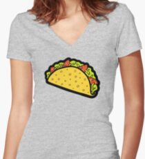 It's Taco Time! Women's Fitted V-Neck T-Shirt