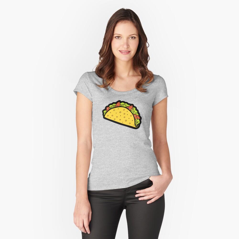 Es ist Taco Zeit! Tailliertes Rundhals-Shirt