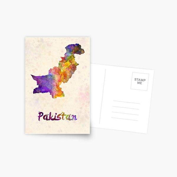 Pakistan in watercolor Postcard