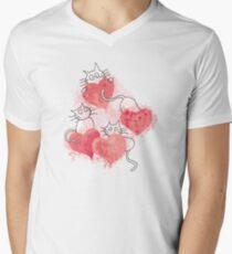 Love Cats Abstract Watercolor T-Shirt