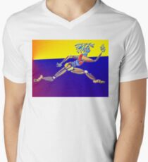 Dance Warrior IV Le Leep Men's V-Neck T-Shirt