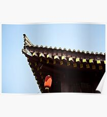 chinese traditional roof Poster