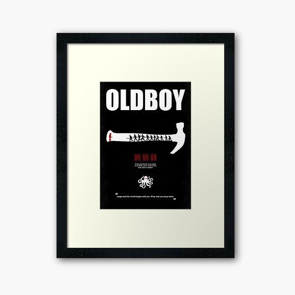 Oldboy - Minimal Movie Poster Framed Art Print