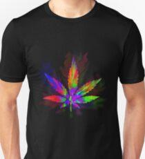 Colourful Weed Leaf T-Shirt