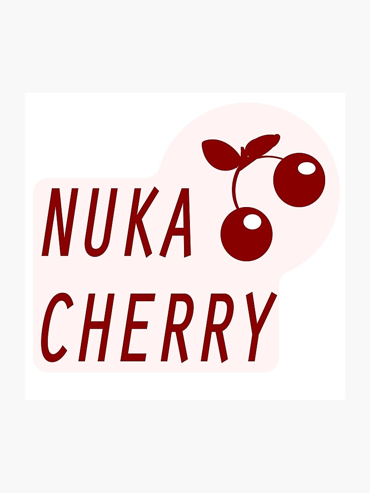image relating to Nuka Cola Printable Labels called Nuka Cola Cherry Label Photographic Print