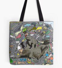 Random Dinosaurs Tote Bag