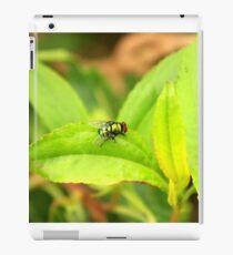 Fly on a Green Leaf iPad Case/Skin