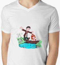 Amy & Doctor Men's V-Neck T-Shirt