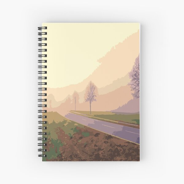 Travel in clouds and fog. Spiral Notebook