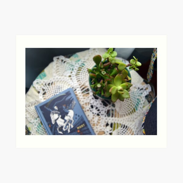 Succulents with Book Photograph Art Print