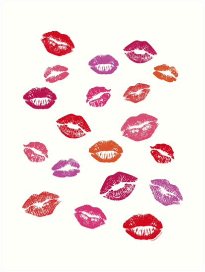 Kisses For You Besos Para Ti Art Print By Improveyourself