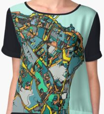 Abstract Map of Dun Laoghaire, Ireland Women's Chiffon Top