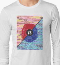 Red Vs. Blue Long Sleeve T-Shirt