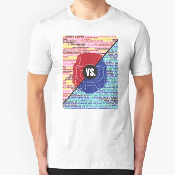 Red Vs. Blue Slim Fit T-Shirt
