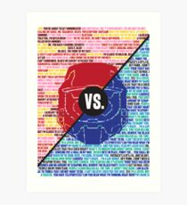 Red Vs. Blue Art Print