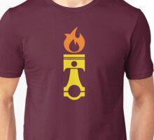 Flaming Piston (fire) Unisex T-Shirt