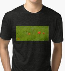 Poppies in Wheat Field Tri-blend T-Shirt