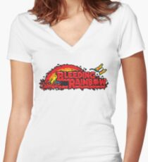 Bleeding Rainbow Women's Fitted V-Neck T-Shirt