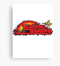 Bleeding Rainbow Canvas Print