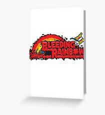 Bleeding Rainbow Greeting Card