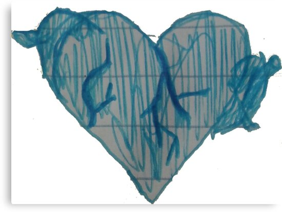 Blue Ink Heart by Carly Taylor