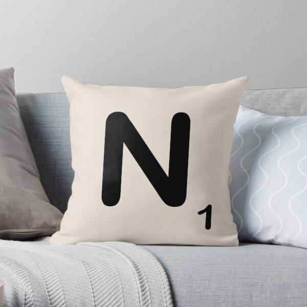 Scrabble Tile N Throw Pillow
