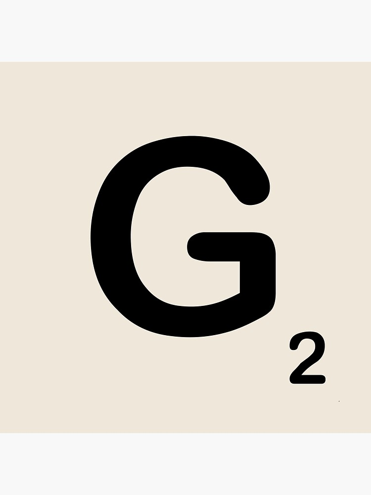 Scrabble Tile G by dystopic