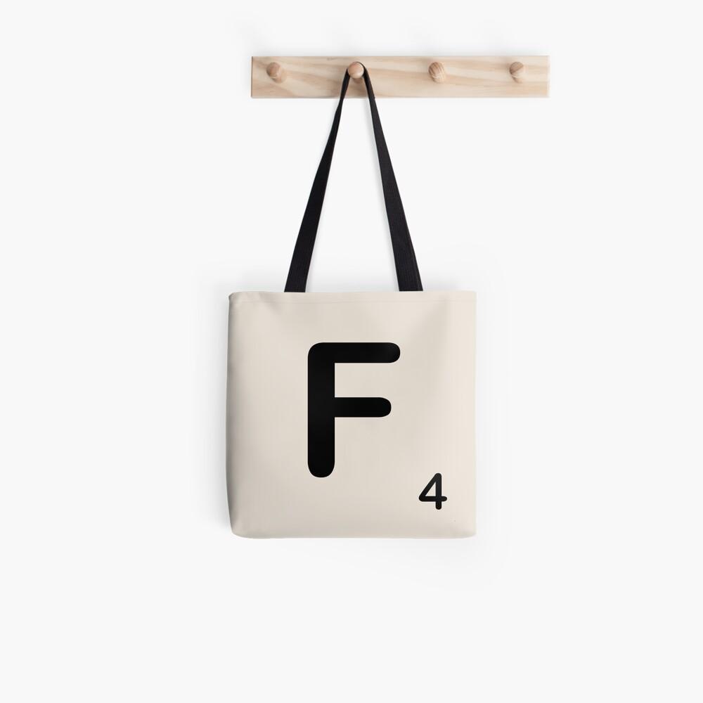Scrabble Tile F Tote Bag
