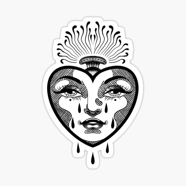 CRYING HEART Sticker