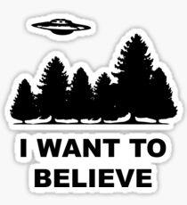 """""""I want to believe"""" X Files Sticker"""