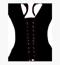 Medieval Sexy Warrior Women Costume corset  Photographic Print