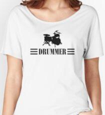Drummer (Black) Women's Relaxed Fit T-Shirt