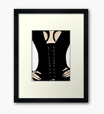 Medieval Sexy Warrior Women Costume corset  Framed Print