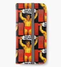 Funny Sayings - I Want to Beat Your Children iPhone Wallet/Case/Skin