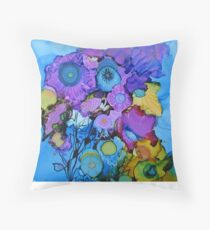 Floral Impressions Throw Pillow