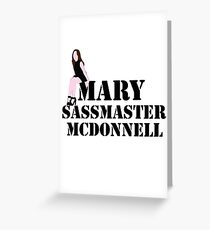 Mary sass master McDonnell Greeting Card