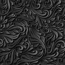 Elegant Black Floral Background by CroDesign