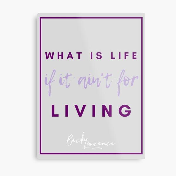 What Is Life - Lyrics Design 1  Metal Print