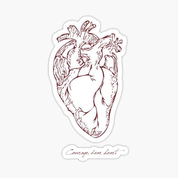 Courage, Dear Heart - Light Sticker