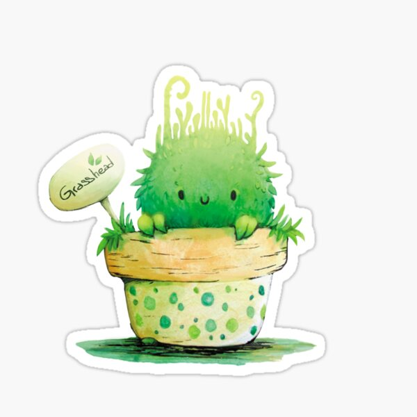 Grasshead Sticker