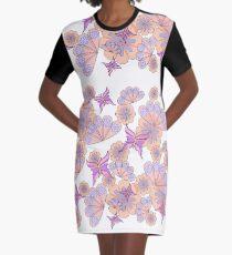 Butterflies, flowers and fans Graphic T-Shirt Dress